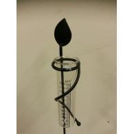 regenmeter metaal enkel blad (zonder glas zie 8523323) kleur mat zwart