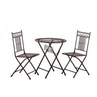 complete set Parijs tafel en 2 stoelen op=op