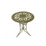 tafel bruin groen D61xH71cm (2021 weer leverbaar)