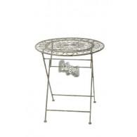 tafel bozen grijs bruin metaal D60xH76cm (leverbaar vanaf week 32)