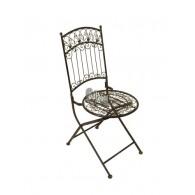 stoel roest kleur 52x39x92,5cm