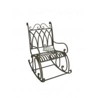 schommel stoel donker bruin 95x61xH105,5cm