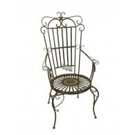 """stoel donker bruin """"troon"""" 69x55xH128cm"""