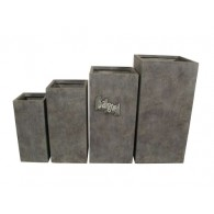 bloembak grijs set van 4 stuks magnesium