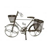 bloembak metaal fiets donker bruin hoog 61 cm