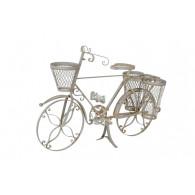fiets om te beplanten metaal grijs hoog 61 cm