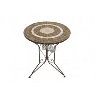 tafel bruin mozaïek D61xH72cm
