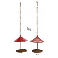 vogel voederhuis hanger rood wit 2 assortiment design