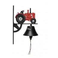deurbel tractor rood gietijzer