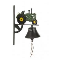 deurbel tractor groen gietijzer