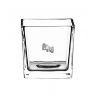 windlicht glas vierkant hoog 8 cm