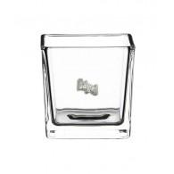 windlicht glas vierkant hoog 10 cm