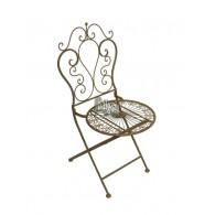 stoel roest kleur 49x54,5xH96cm