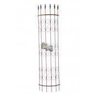plantgeleider roest metaal halfrond hoog 179 cm