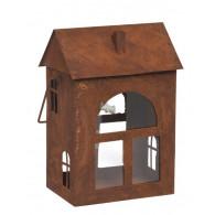 windlicht metaal huis hoog 36 cm roest