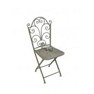 stoel grijs 48x52xH101cm