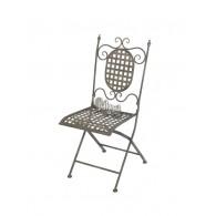 stoel grijs 38,5x62xH93,5cm