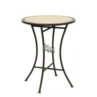 indoor tafel mozaïek crème bruin D56xH72cm
