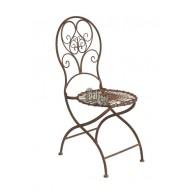 stoel roest kleur 42x49xH95cm