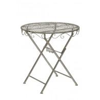 tafel mat grijs D69,5xH73cm