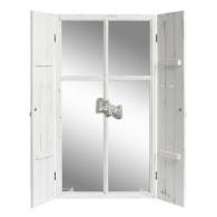 spiegel venster met deuren wit hoog 110 cm (leverbaar vanaf week 40)