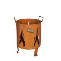 vuurkorf vlam roest hoog 40 cm