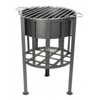 vuurkorf metaal met grill vlak 41x32x54 op=op