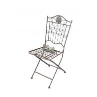 stoel grijs blauw 45x48xH92,50cm