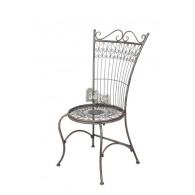 stoel grijs blauw 56x48xH106,5cm
