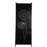 tuin verdeel/decoratie scherm metaal mat zwart met paardenbloem groot (leverbaar vanaf week 25)