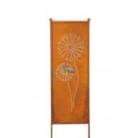 (week 13) tuin verdeel/decoratie scherm metaal roest met paardebloem 32xH116cm