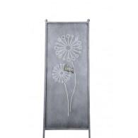 (week 13) tuin verdeel/decoratie scherm metaal grijs met paardenbloem 52xH165cm