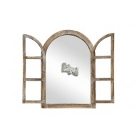 spiegel venster met deuren bruin hoog 82 cm (vanaf week 40 weer lverbaar)