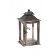 lantaarn hout bruin hoog 35 cm