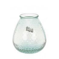 vaas glas met motief hoog 27 cm