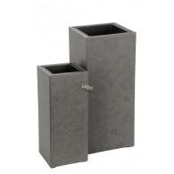 bloembak cement vierkant grijs set van 2 stuks