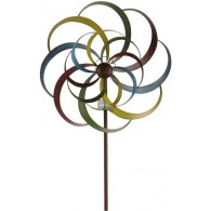 windmolen dubbel bont metaal diameter 44 cm