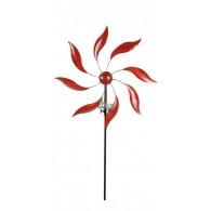 windmolen enkel rood metaal diameter 47 cm