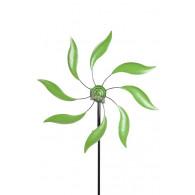 windmolen enkel groen metaal diameter 47 cm