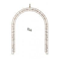 rozenboog zwaar extra breed 12 mm dik dubbel met punt 200x35xH270cm blank staal (leverbaar vanaf week 14)