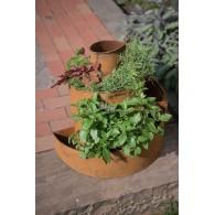 beplantings-spiraal metaal roest hoog 52 cm