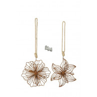 hanger bloem metaal 2 assortiment design roestkleur