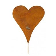 hart schroefbaar hoog 39 cm roest