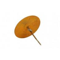 ronde plaat schroefbaar rond 15 cm roest
