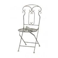 stoel grijs bruin 43x54xH93cm