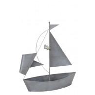 bloembak metaal boot hoog 66 cm grijs