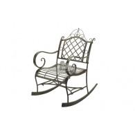 schommel stoel donker bruin 63x84xH95cm