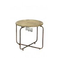 bijzet tafel bruin D60xH49cm