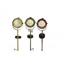 solar led lamp 3 assortiment kleur op steker hoog 51 cm