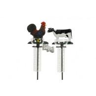 regenmeter haan en koe gietijzer